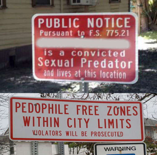 Sex offender law distance from park