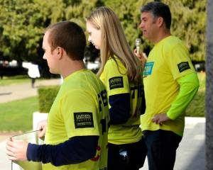 CIP Attorneys Justin Brooks, Alissa Bjerkhoel, and Michael Semanchik.  All marched the 712 miles for the Caliofornia 12.