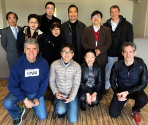 Members of Innocence Project Japan, the Taiwan Association for Innocence, and American representatives before a day of touring in Kyoto