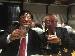 Innocence Project Japan co-founder Mitsuyuki Inaba with lawyer Hiroshi Sato, who got the first DNA exoneration in Japan